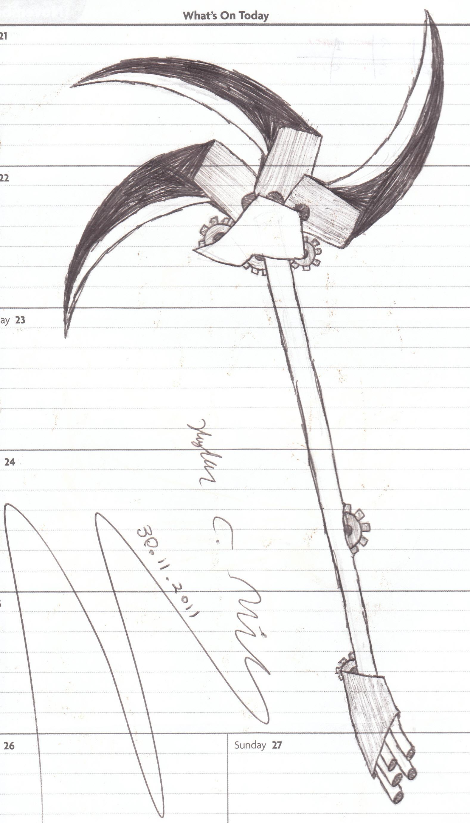 Drawn scythe mechanical By Scythe on Mechanical DeviantArt