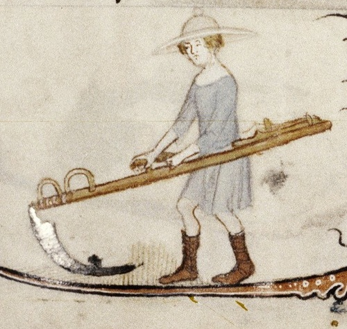 Drawn scythe medieval farming LifeFarmingCooking images about snath Interesting