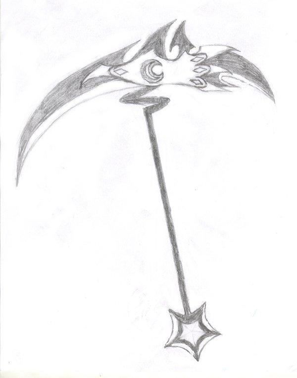 Drawn scythe moon By Scythe DeviantArt on Moon