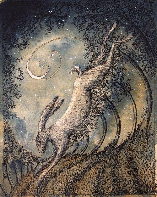 Drawn scythe moon By Moon' artwork  Inspirational