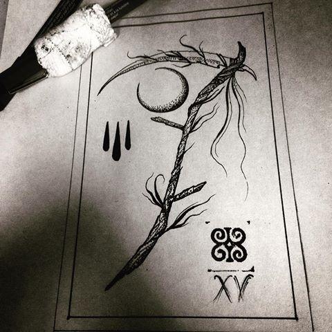 Drawn scythe moon #tattooflash and #tattoos photos DiPierro