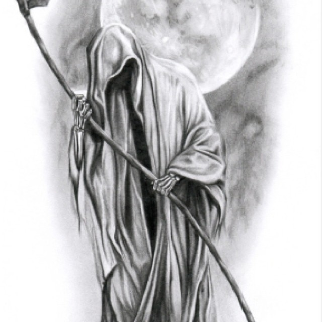 Drawn scythe moon  The Grim Reaper's Scythe