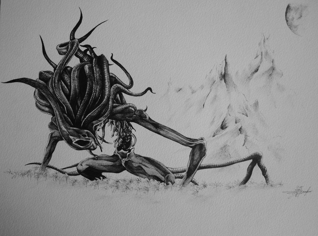 Drawn scythe moon Bloodborne DeviantArt meisters on by