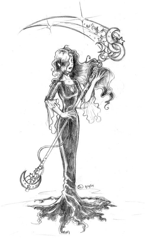 Drawn scythe moon Dragonlady212 by Moon scythe by
