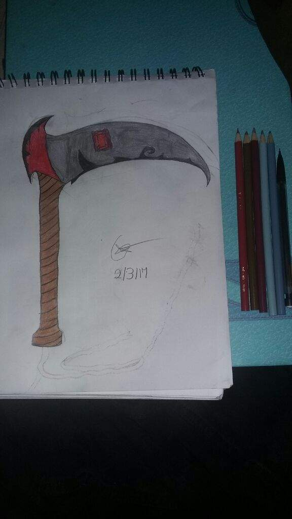 Drawn scythe one handed I So the with the