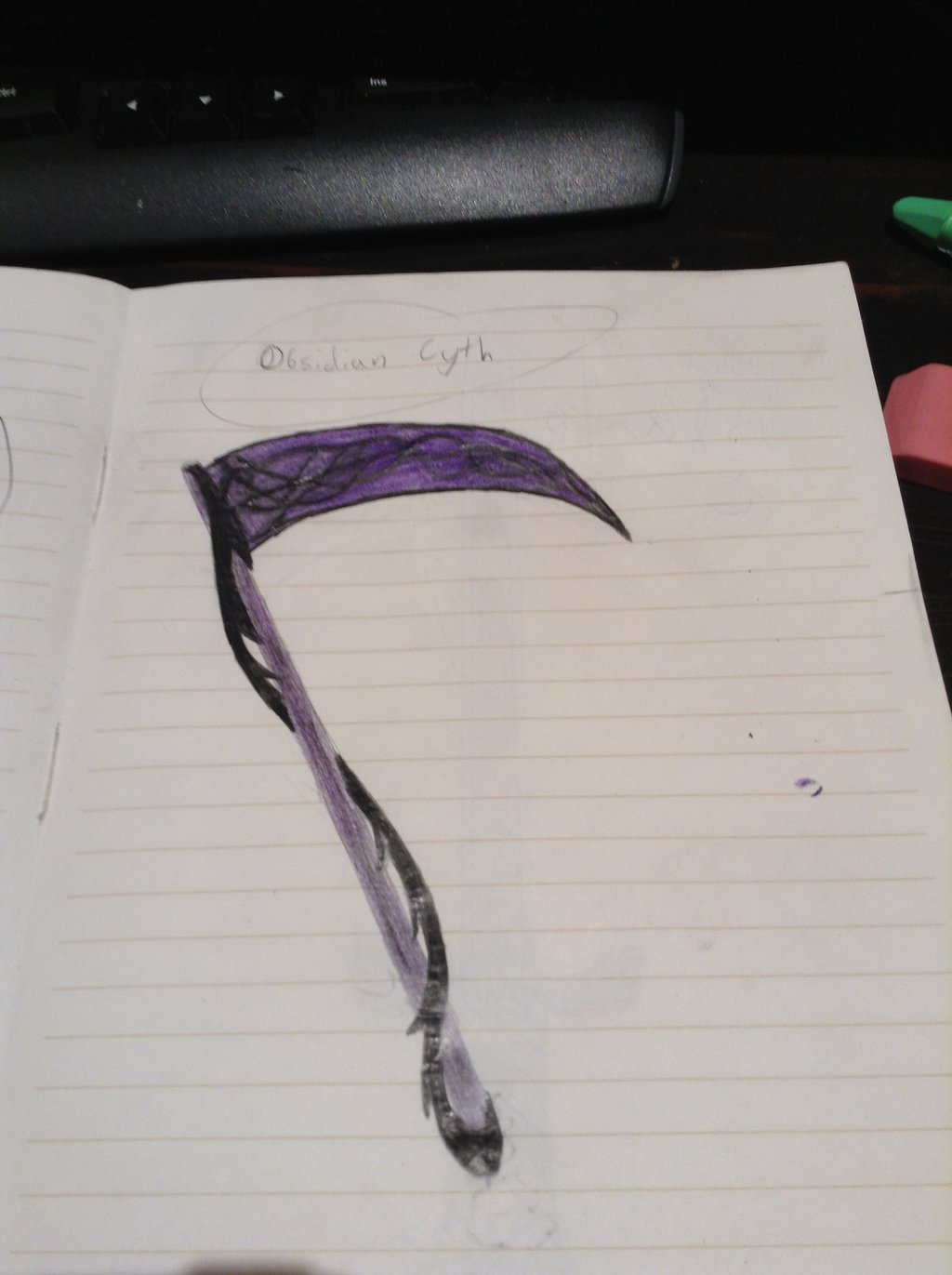Drawn scythe purple DeviantArt by Gem Starfire1511 Obsidian