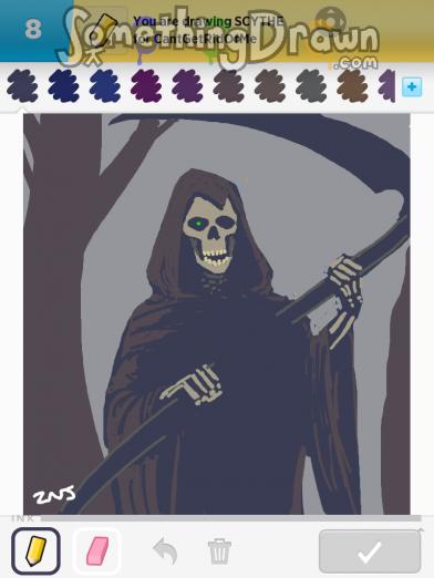 Drawn scythe purple Zacharias on SCYTHE J drawn