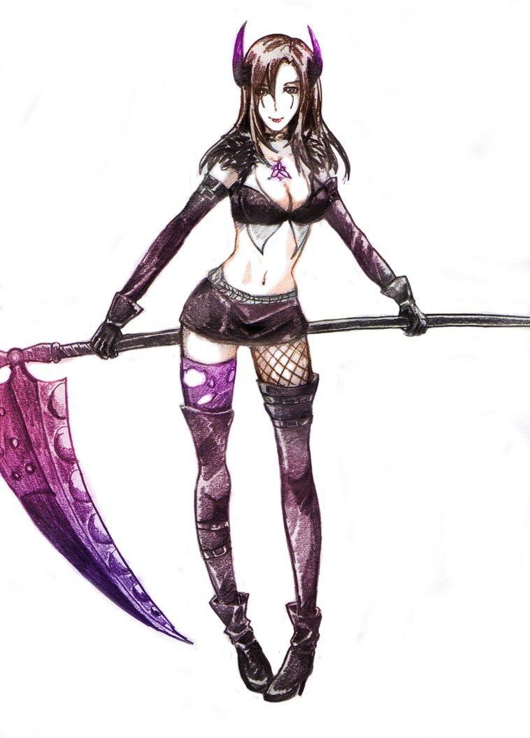 Drawn scythe purple S4 GazeRei Scythe on Queen