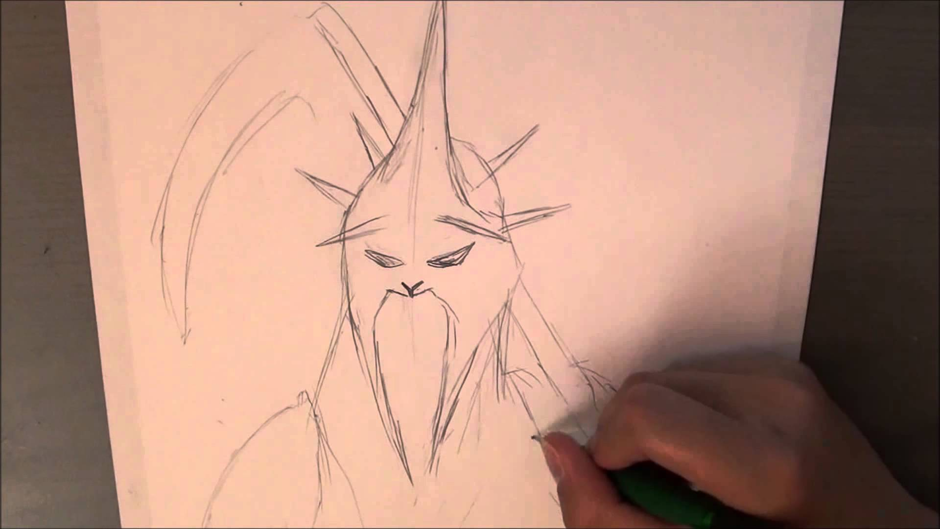 Drawn scythe real life Drawing with YouTube Nazgul with