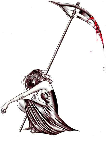 Drawn scythe reaper Result tattoos99 http://www for Image
