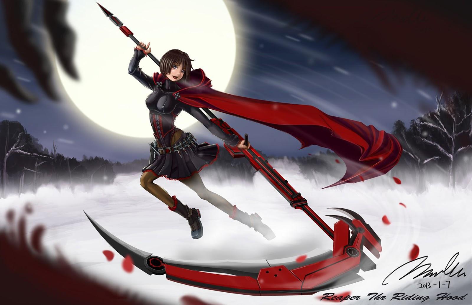 Drawn scythe red  scythe and More Scythe's