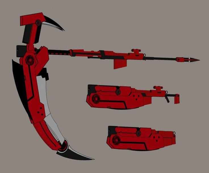 Drawn scythe red Rose scythe