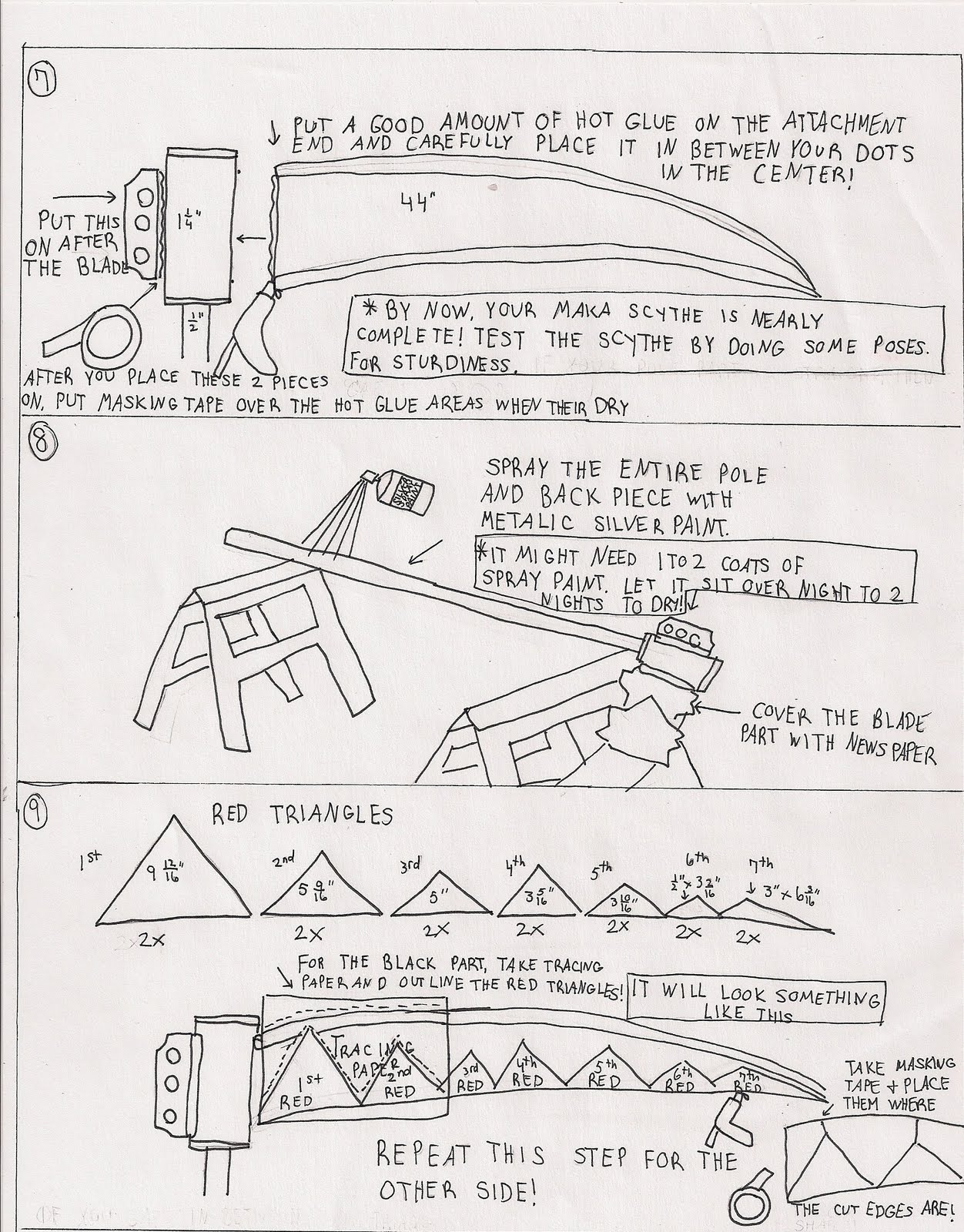 Drawn scythe red Anyone Tutorial: tutorial around Cosplay