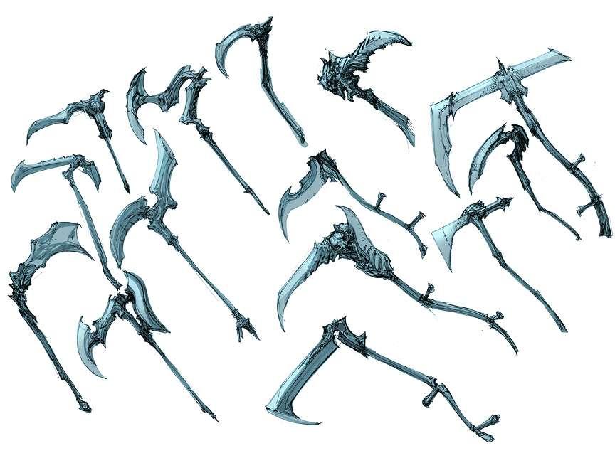 Drawn scythe sci fi On best  Pinterest 94
