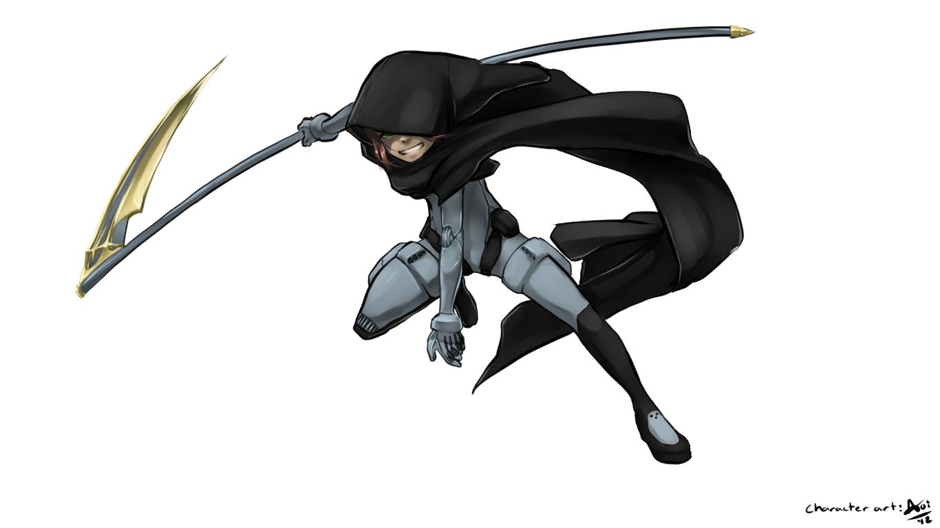 Drawn scythe sci fi Scythe Aogami Scythe by by