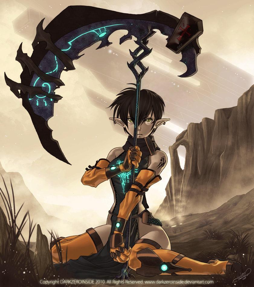 Drawn scythe sci fi Wasteland DarkZeroInside Wasteland by by