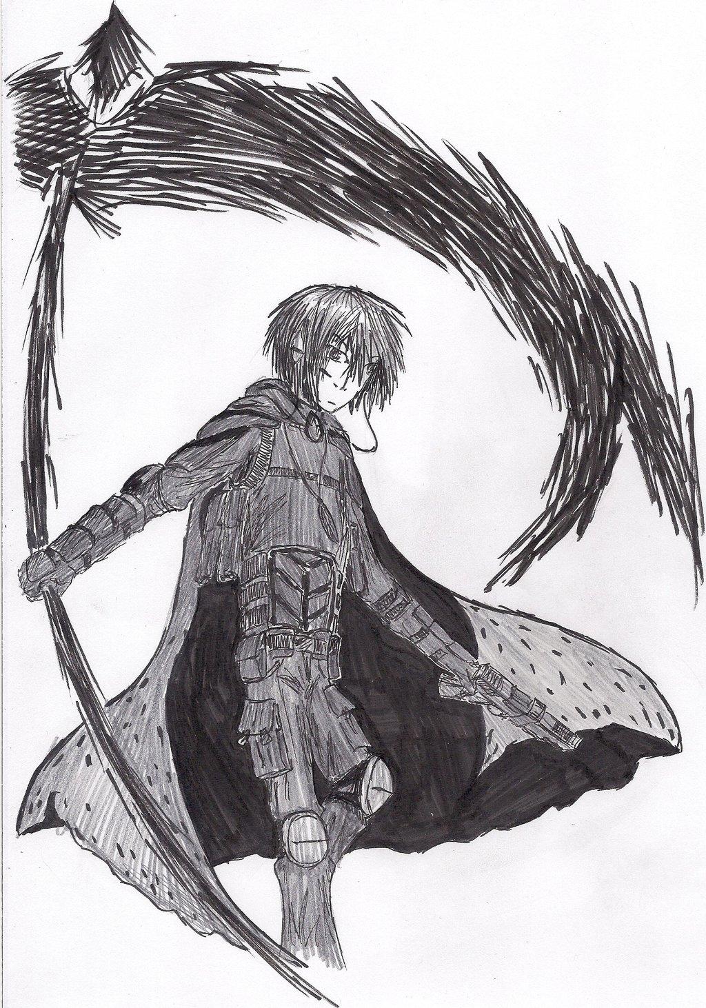 Drawn scythe shadow Tenebris Raven Tenebris Raven by