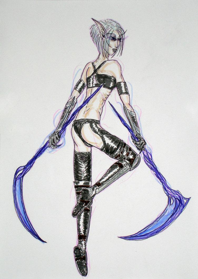 Drawn scythe shadow Cenaya scythe DeviantArt Cenaya by