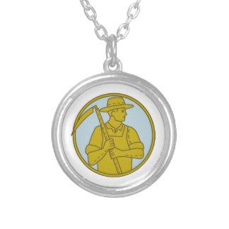 Drawn scythe silver Scythe Necklace Silver Side Online