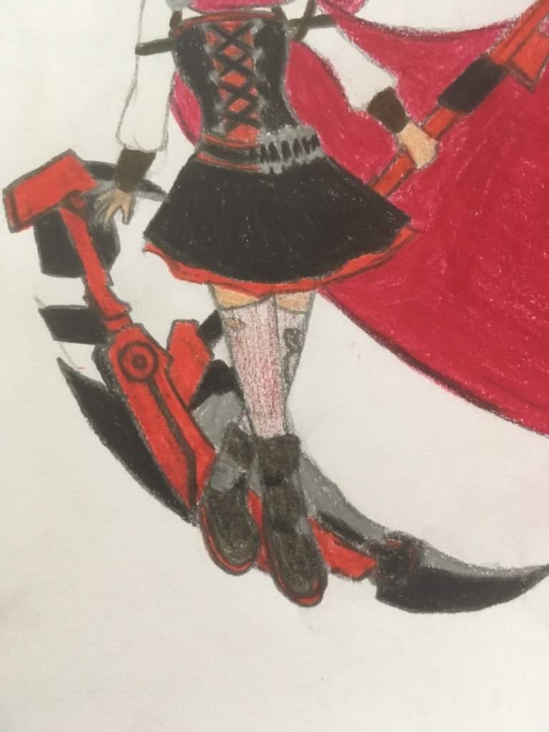 Drawn scythe silver Scythe! Amino eyed Ruby And