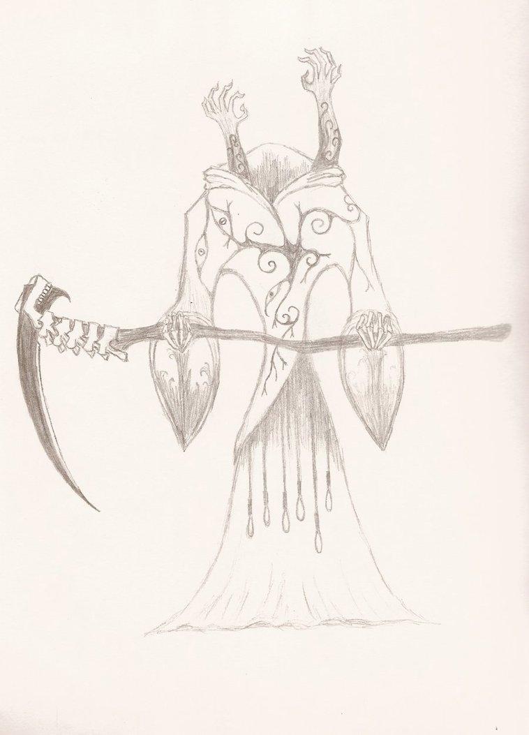 Drawn scythe spine DeviantArt on by magicflyingpenguin95 by