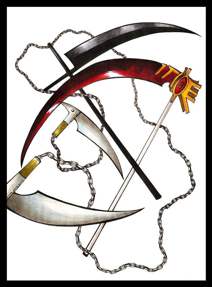 Drawn scythe spine (soul miester? scythe 25+ Soul