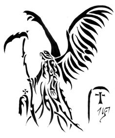 Drawn scythe tribal Tribal scythe Tribal Reaper Of