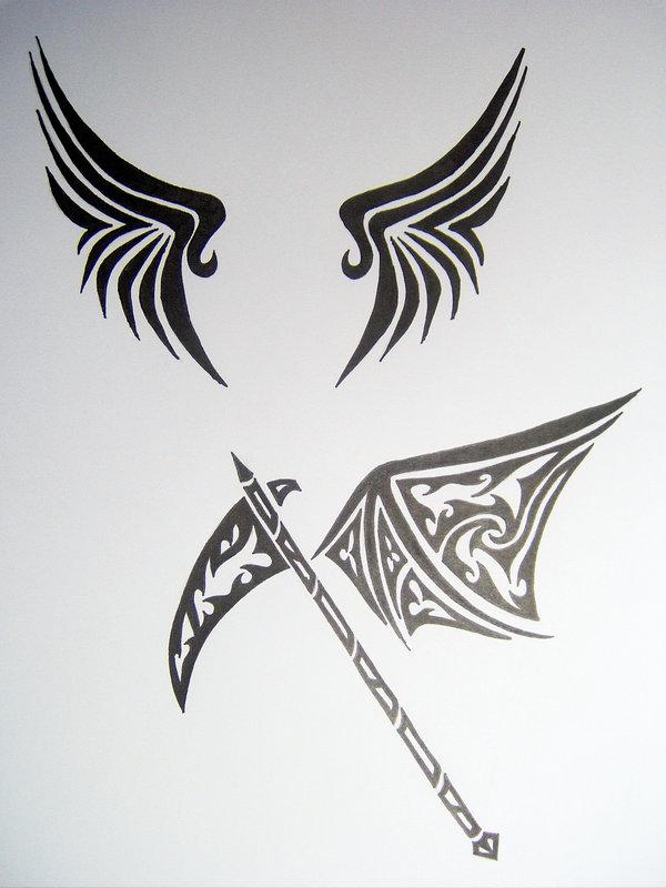 Drawn scythe tribal DeviantArt on and SpiritsRebirth Scythe