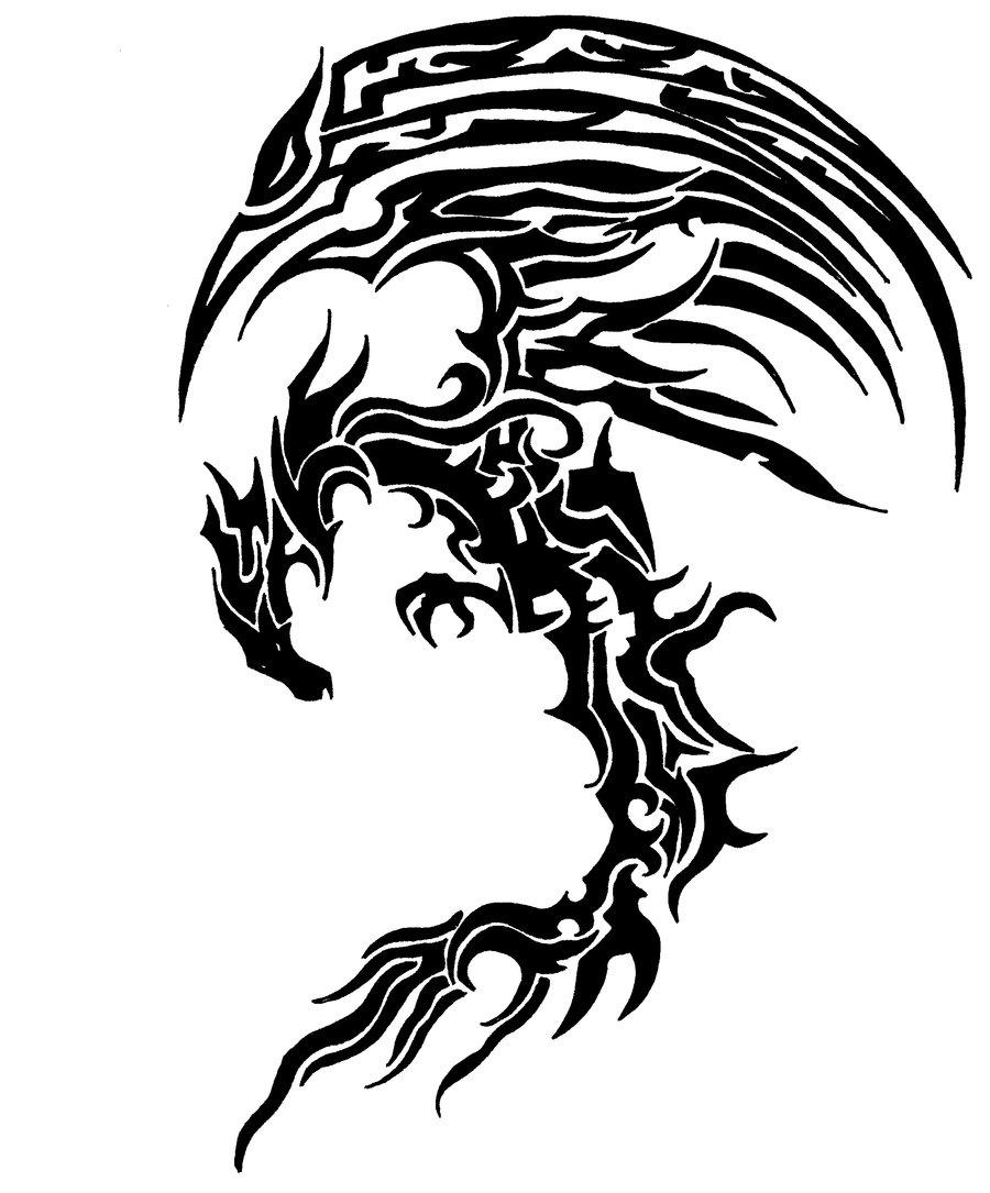 Drawn scythe tribal By by jakelagman777 jakelagman777 tribal