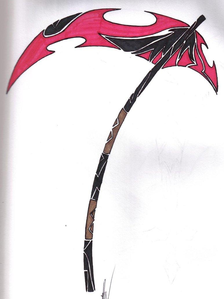 Drawn scythe tribal 001 Tattoo by DeviantArt Tattoo