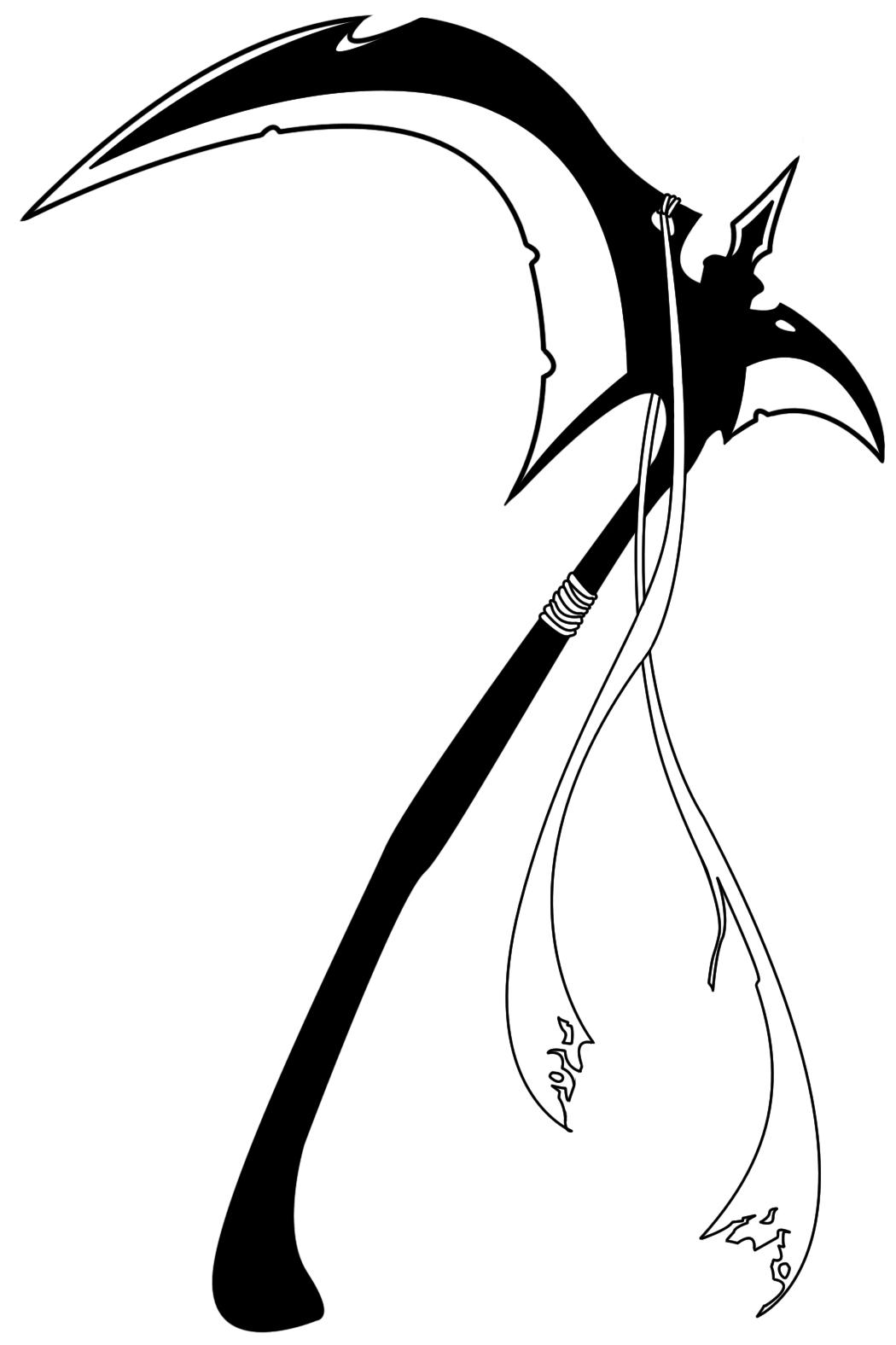 Drawn scythe tribal By by Balsavor Balsavor tattoo