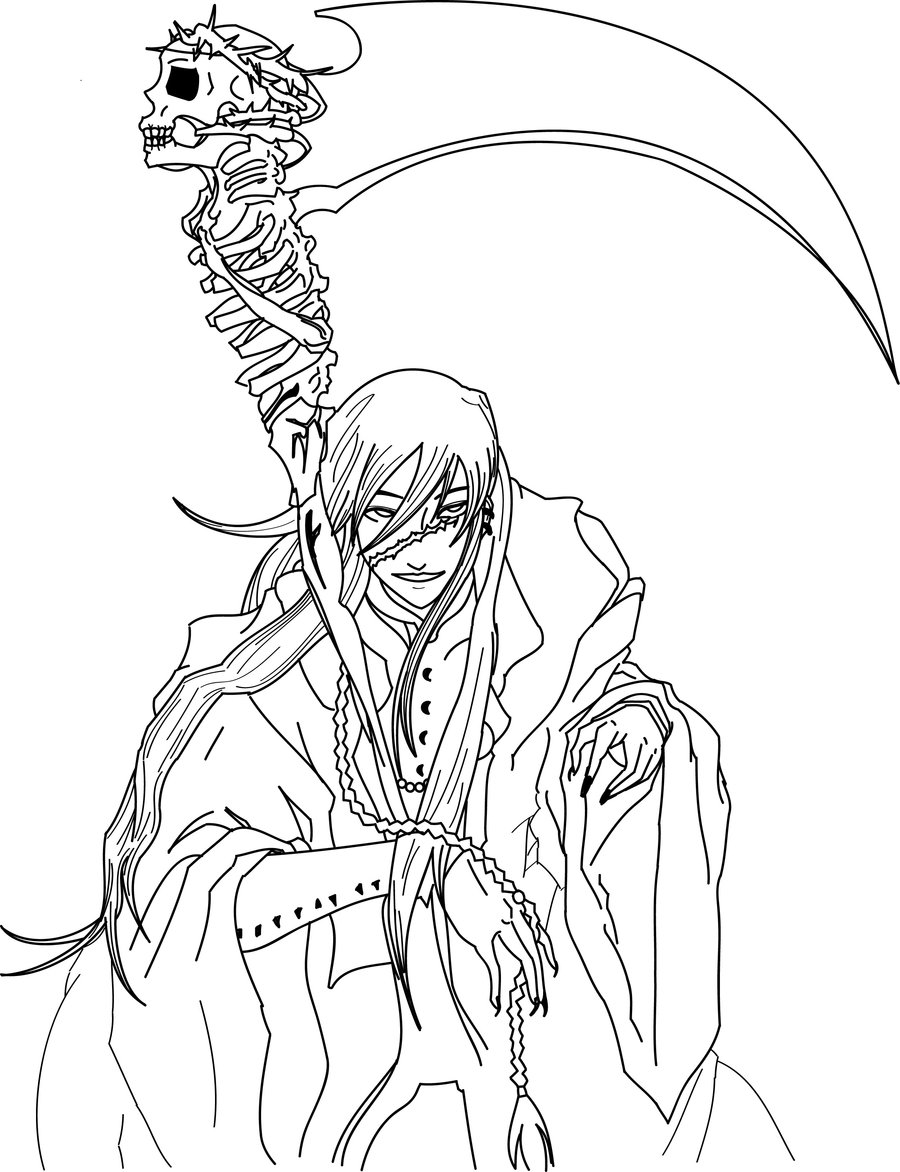 Drawn scythe undertaker On ThePajaromuerto by DeviantArt illustrador