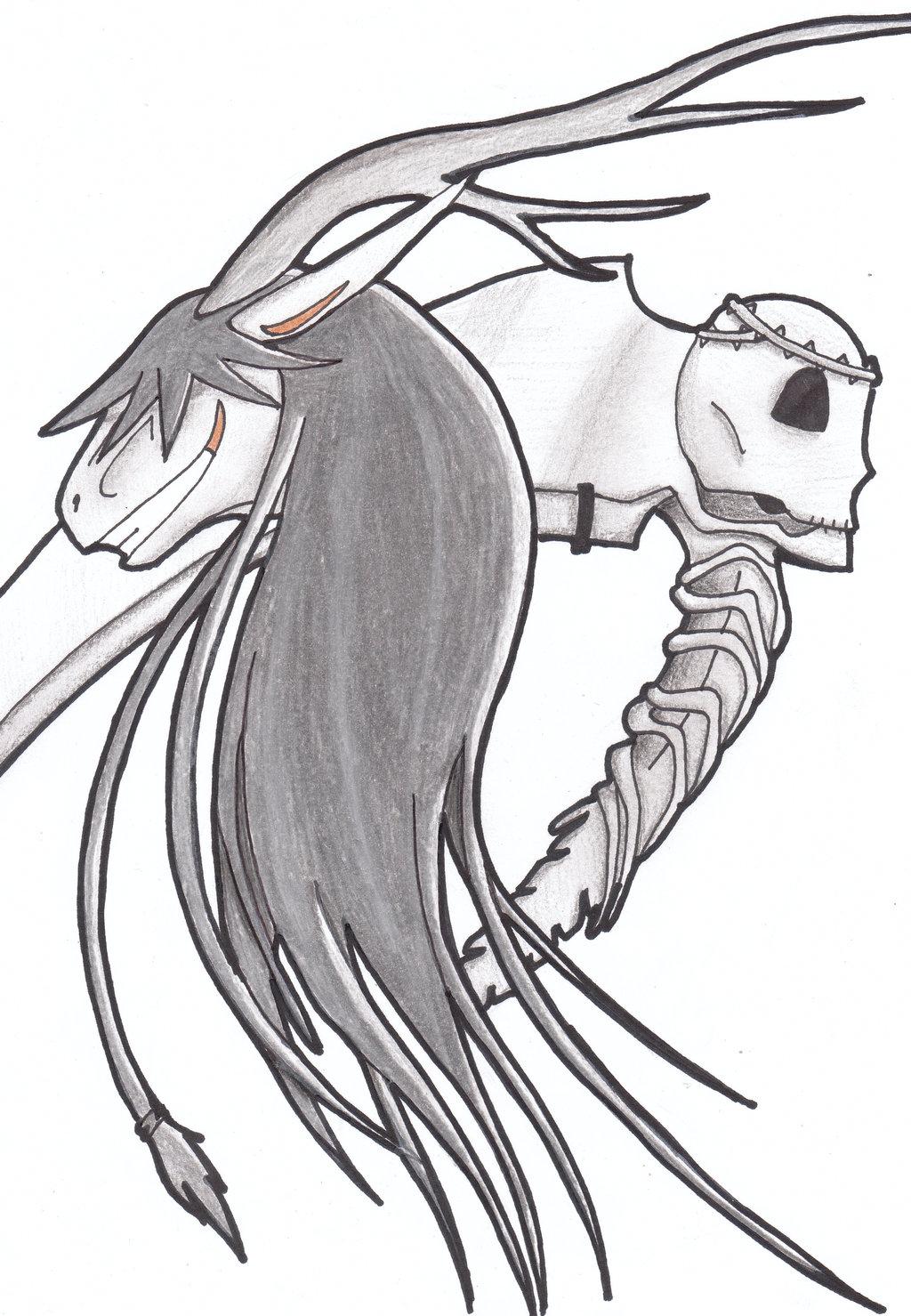 Drawn scythe undertaker On and scythe and scythe