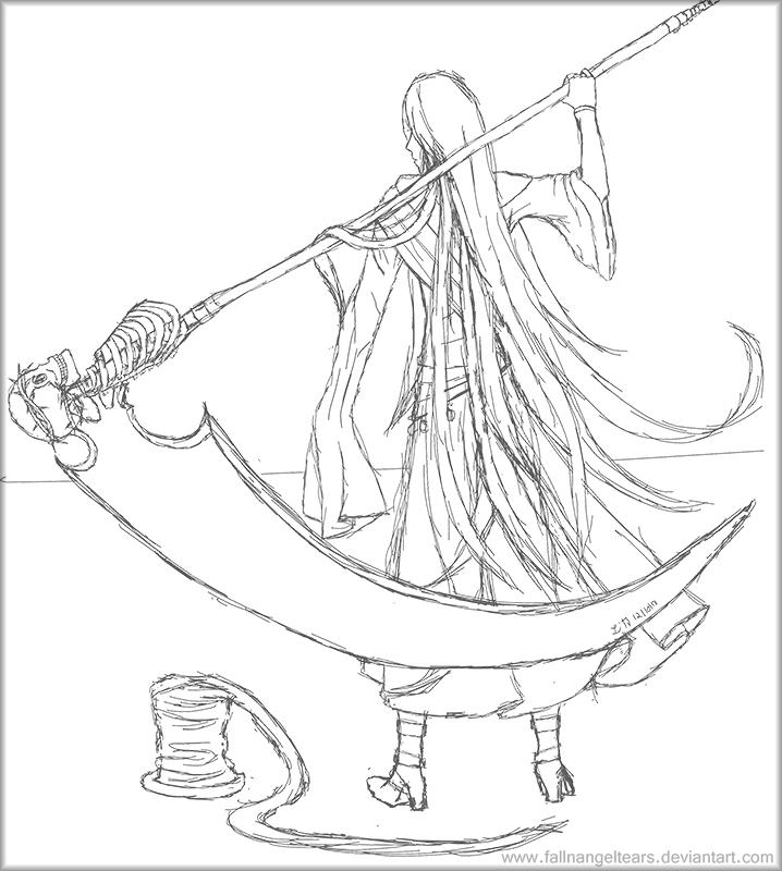 Drawn scythe undertaker Sketch Undertaker fallnangeltears by Sketch