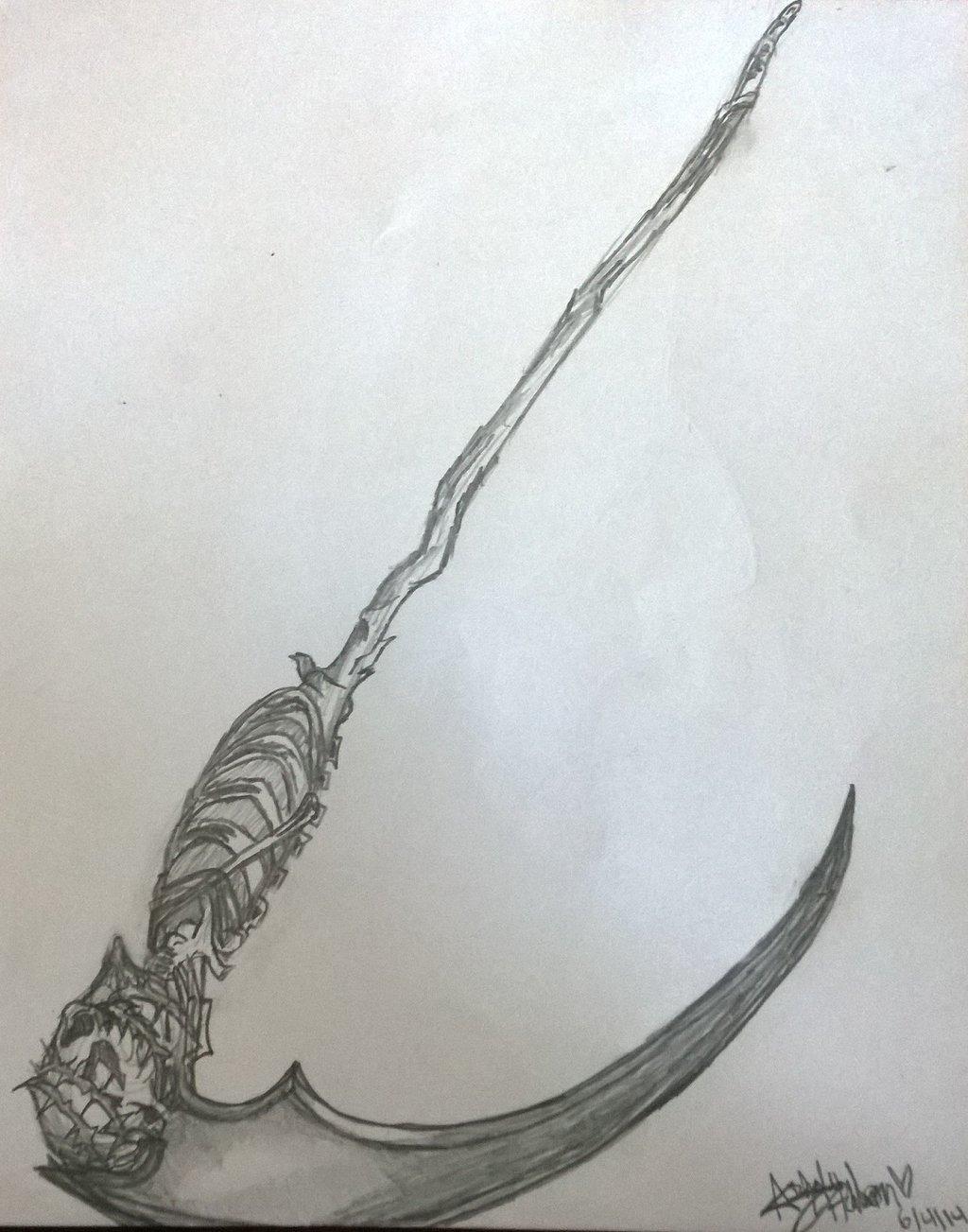 Drawn scythe undertaker On Death Undertaker's LillianDrakos Scythe
