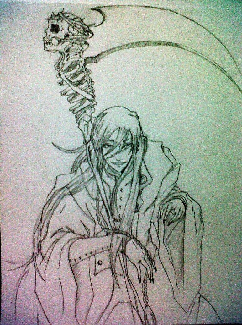 Drawn scythe undertaker Kuroshitsuji 2 undertaker Undertaker 2