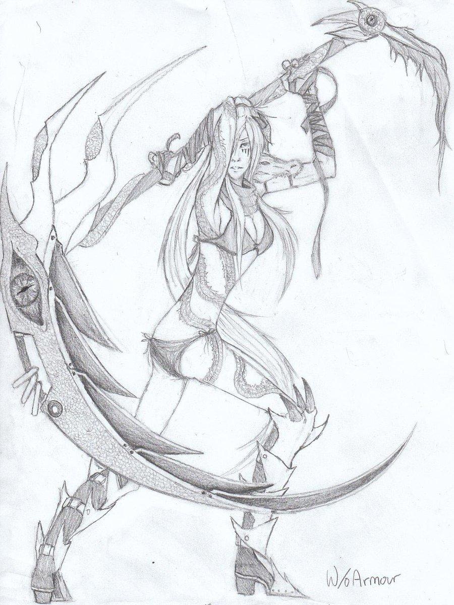 Drawn scythe wicked Dragon Linitha Scythe by Scythe