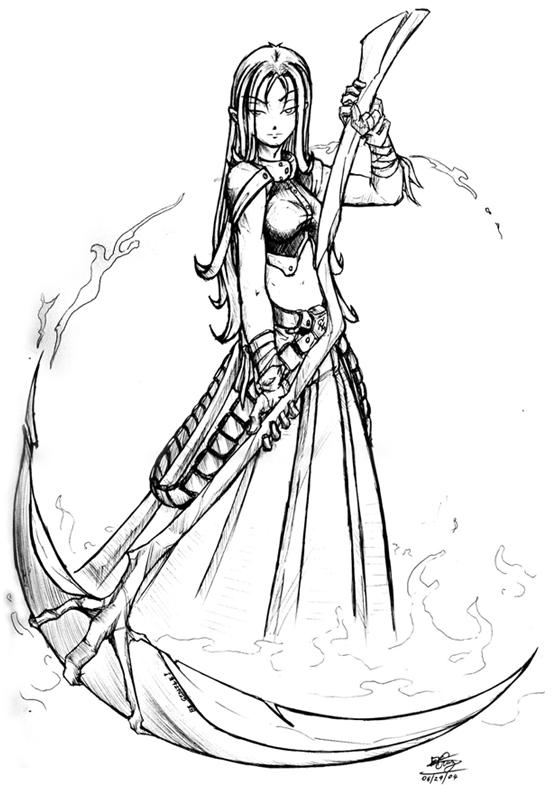Drawn scythe wicked DeviantArt Trebuchet by Scythe Scythe