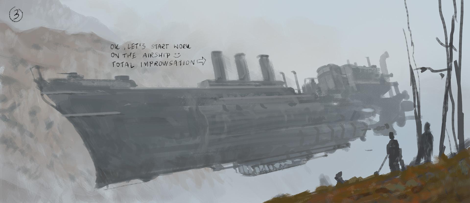 Drawn scythe wind 1920 Rozalski rozalski airship gambit