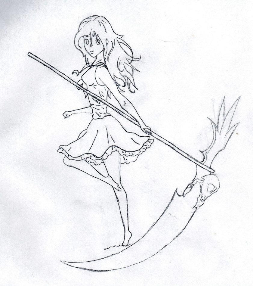 Drawn scythe wolf Girl Girl AnimeDevil99 DeviantArt Scythe