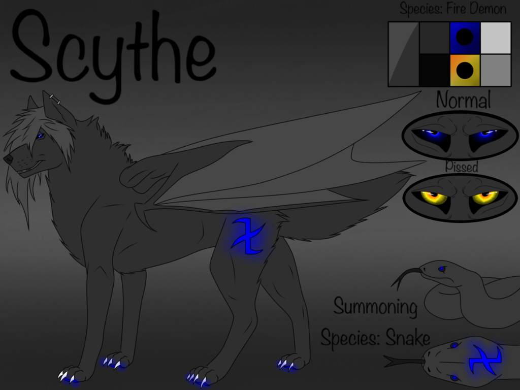 Drawn scythe wolf Spirit Scythe DEM0NIC on Spirit