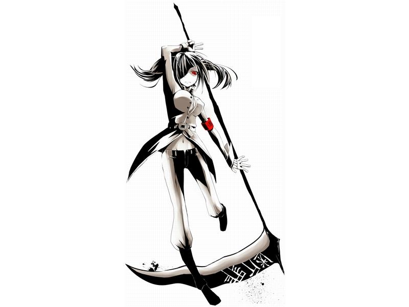 Drawn scythe wolf Scythe Anime+weapon+Scythe military  uniforms