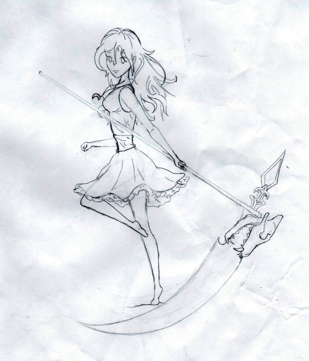 Drawn scythe wolf Girl Girl AnimeDevil99 AnimeDevil99 Wolf