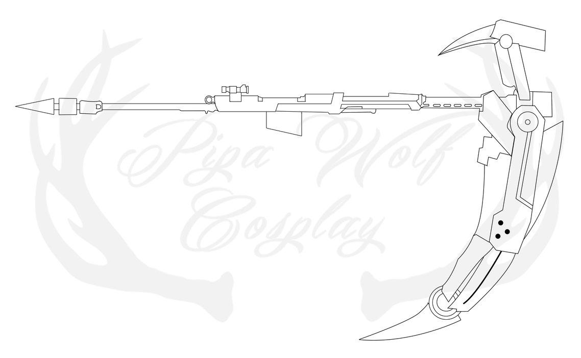 Drawn scythe wolf Scythe Ruby Ruby by on