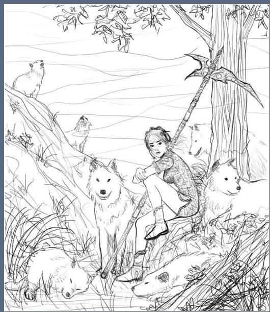 Drawn scythe wolf Wolf' 694_tid_Scythe_Wolf 'Scythe / 7)
