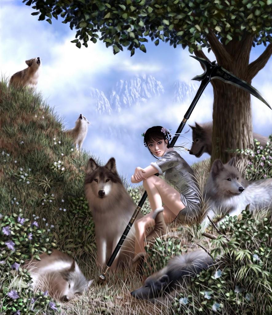 Drawn scythe wolf  Tutorial Scythe Wolf