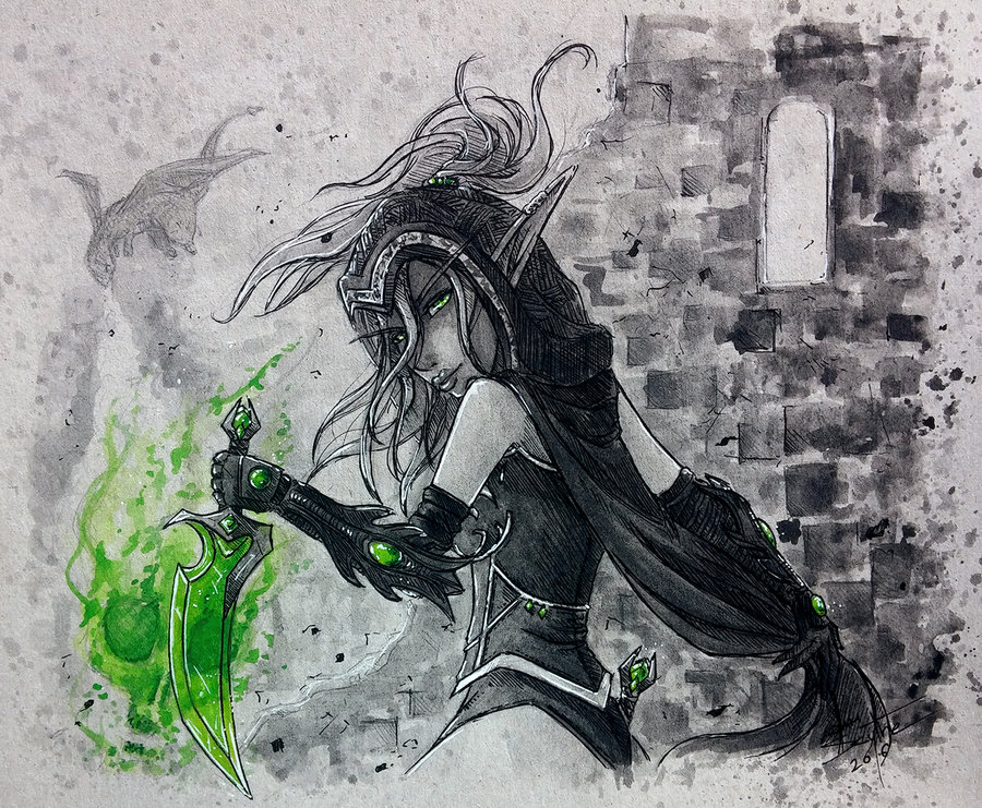 Drawn scythe wow Sanguinar on Warcraft by Valeera