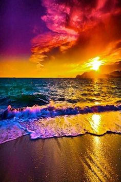 Drawn sea life beach sunset Colors Divine The  Intervention