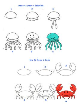Drawn sea life beginner Draw images Pinterest 672 best