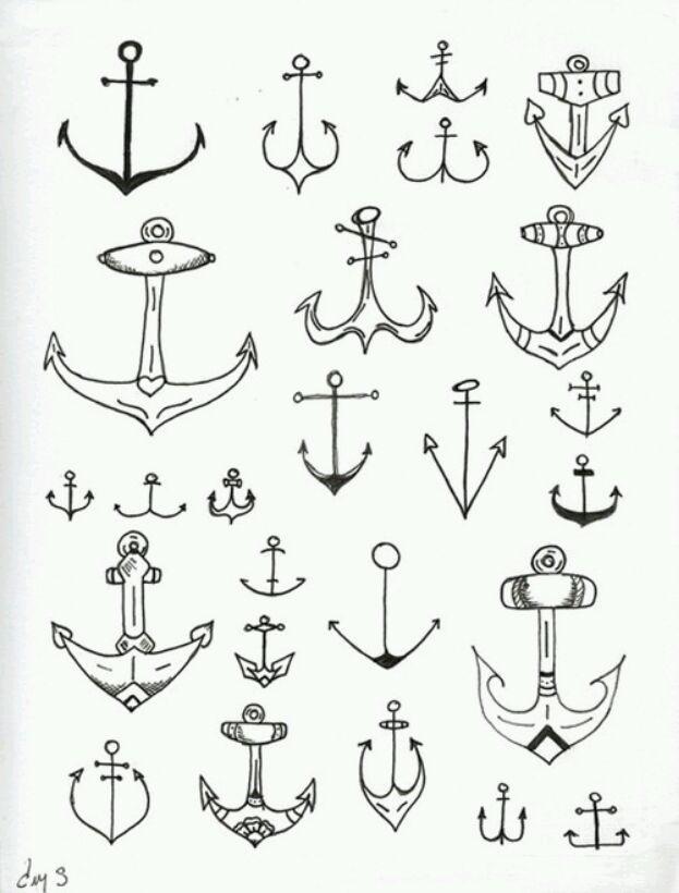 Drawn anchor small Cute ilustracion Anchor tattoo cute